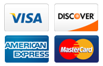 our plumbers accept all major credit cards